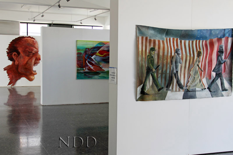 Fine art on display at the Museo de Arte in Nogales, Mexico