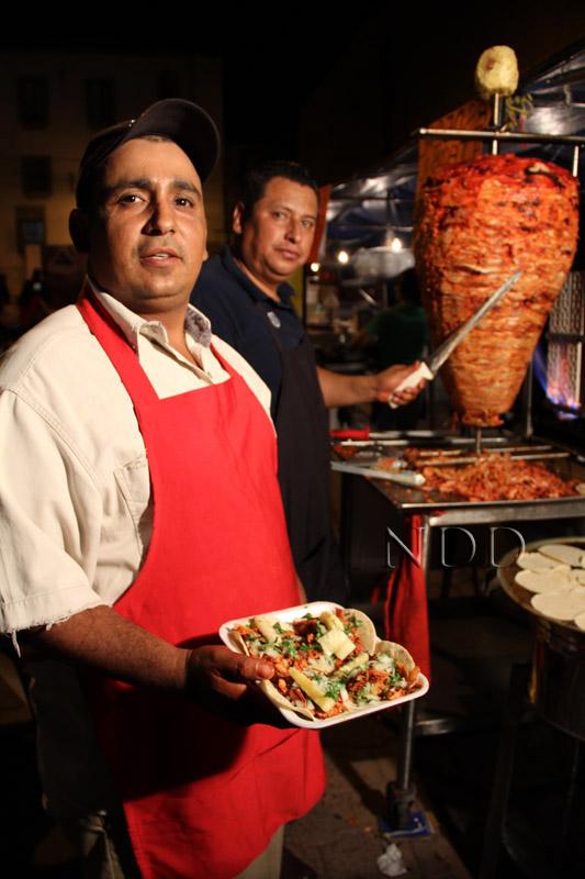 A Nogales favorite, tacos al pastor
