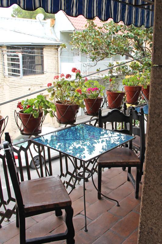 On the balcony of La Roca el Balcon in Nogales, Mexico