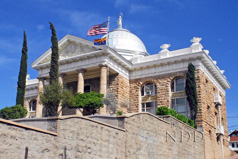 The 1904 Courthouse on Morley Avenue in Nogales, Arizona